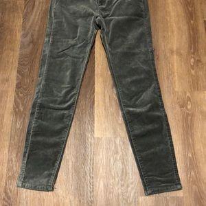 LC Lauren Conrad Pants - Lauren Conrad Faux Velvet Skinny Pants
